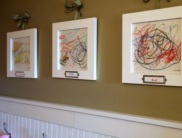 own & kids art work for  residence interior design