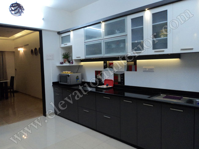Residence interior decorator in mumbai and navi mumbai for Kitchen interior images